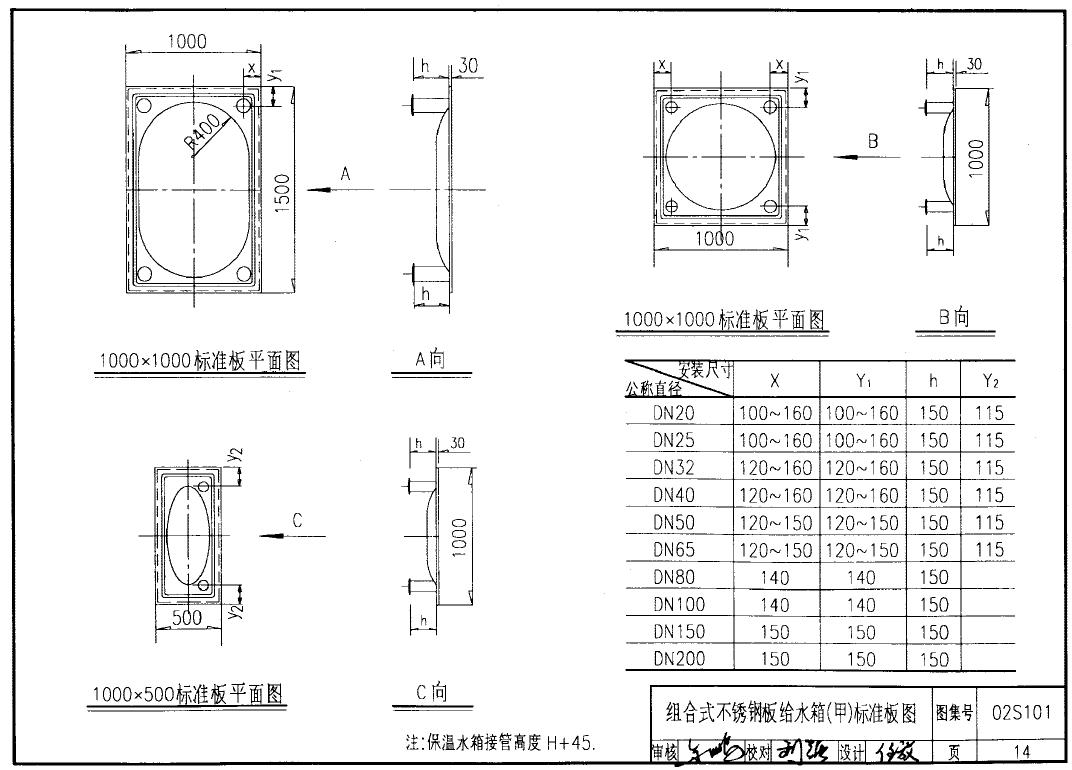 不锈钢水箱板材规格尺寸